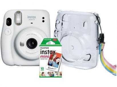 Instax Mini 11 Fujifilm Branco Flash Automático - com Acessórios