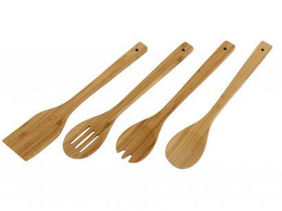 Conjunto de Utensílios Tramontina de Bambu - 4 Peças