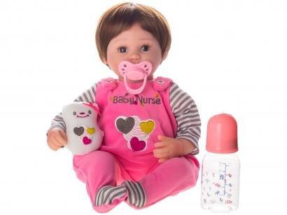 Boneca Reborn Nurse 40cm com Acessórios - Laura Baby