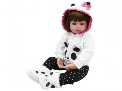 Boneca Reborn Pandinha 45cm - com Acessórios Laura Baby