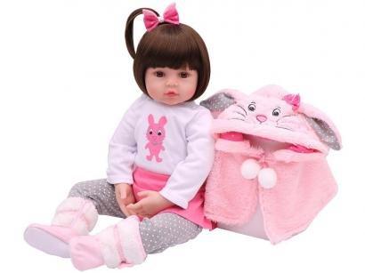 Boneca Reborn Sarinha 45cm com Acessórios - Laura Baby