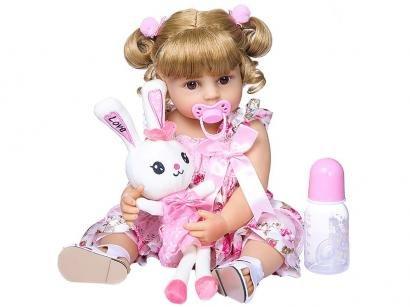 Boneca Reborn Gabi 45cm com Acessórios - Laura Baby