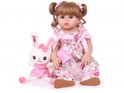 Boneca Reborn Gabi Blue 45cm com Acessórios - Laura Baby