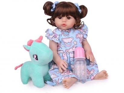 Boneca Reborn Cute 45cm com Acessórios - Laura Baby