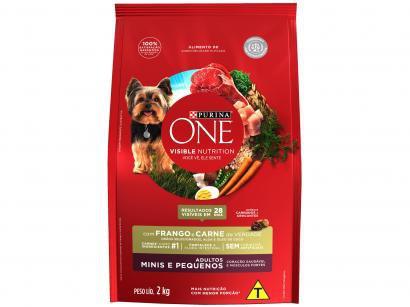 Ração Super Premium para Cachorro Purina One - Frango e Carne Adulto 2Kg
