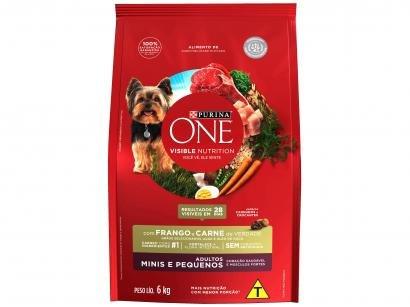 Ração Super Premium para Cachorro Purina One - Frango e Carne Adulto 6kg
