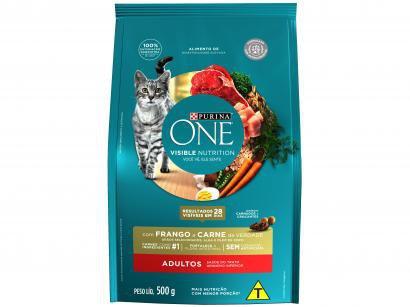 Ração Super Premium para Gato Purina One - Frango e Carne Adulto 500g