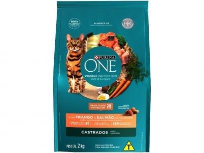 Ração Super Premium para Gato Castrado Purina One - Adulto Frango e Salmão 2kg