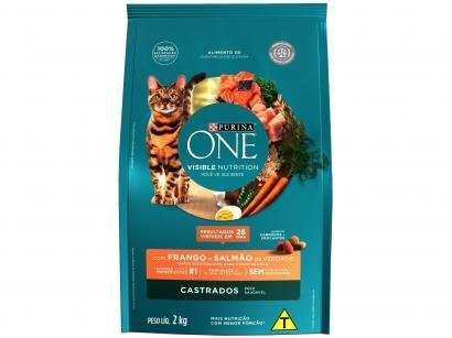 Ração Super Premium para Gato Purina One - Frango e Salmão Adulto 2kg