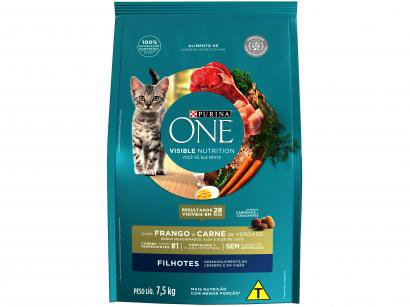 Ração Super Premium para Gato Purina One - Frango e Carne Filhote 7,5kg