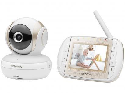 Babá Eletrônica Motorola MBP30A com Câmera - Visão Noturna Alcance até 300m
