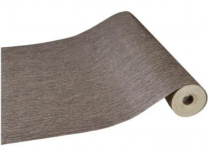 Papel de Parede Marrom Texturizado Vinílico - Evolux 53x1000cm