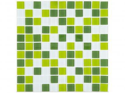 Pastilha de Vidro Mia Mosaic Mix 30x30cm Verde