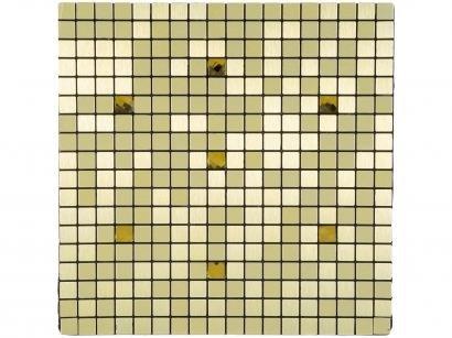 Pastilha Adesiva Mia Mosaic 30x30cm Dourado