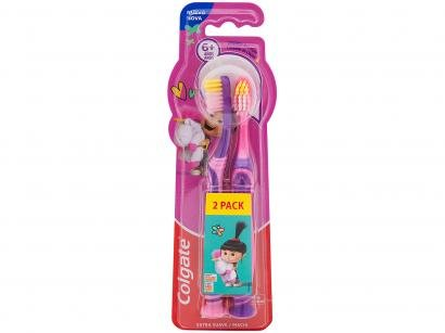 Escova de Dente Infantil Colgate Smiles - Agnes e Fluffy 2 Unidades