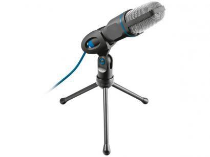 Microfone Condensador Profissional para PC - Streaming Trust Mico USB com Tripé