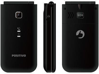 Celular Positivo P50 Flip Dual Chip 32MB 2G - Rádio FM Bluetooth Desbloqueado