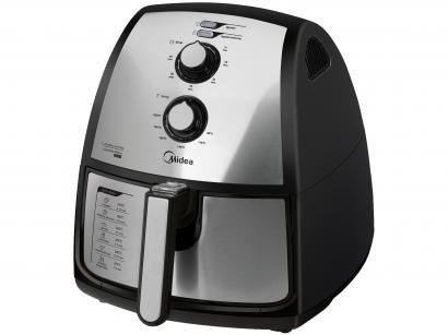 Fritadeira Elétrica sem Óleo/Air Fryer Midea FXA41 - Preto 4L com Timer