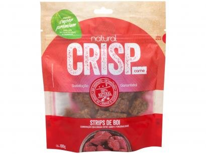 Petisco para Cachorro Adulto Natural Crisp - Strips de Boi Carne 100g