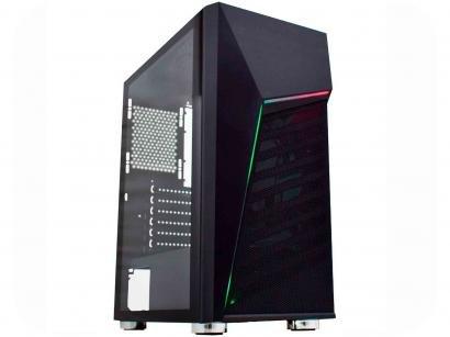 Gabinete Gamer K-Mex Strife II CG-01C1 - RGB ATX 7 FANs Preto