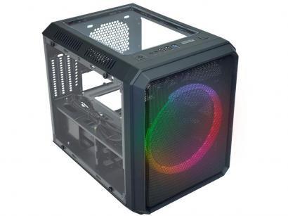 Gabinete Gamer K-Mex Microcraft V CG-05RC - RGB ATX 3 FANs Preto