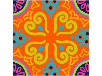 Adesivo de Azulejo Abstrato PVC Adesif N1905776 - 15x15cm 8 Unidades