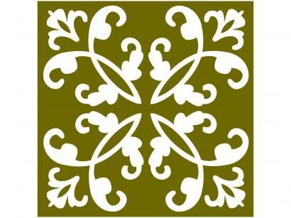 Adesivo de Azulejo Arabesco PVC Adesif N1905768 - 15x15cm 8 Unidades