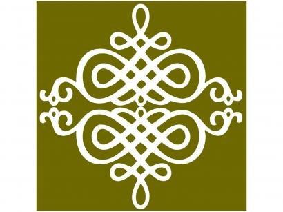 Adesivo de Azulejo Arabesco PVC Adesif N1905783 - 15x15cm 8 Unidades
