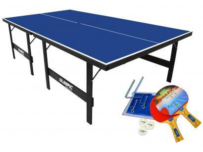 Mesa de Ping Pong Dobrável 15mm Klopf 1005 - com Suporte Rede e Raquete