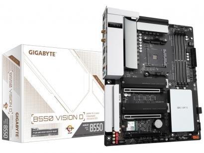 Placa Mãe Gigabyte B550 Vision D 1.0 - AMD AM4 DDR4 ATX