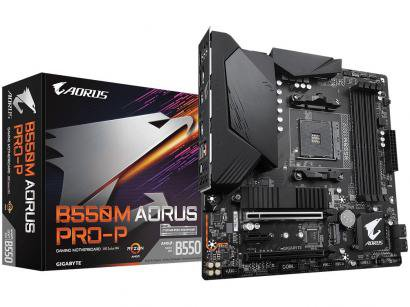 Placa Mãe Gigabyte B550M Aorus Pro-P 1.0 - AMD AM4 DDR4 Micro ATX