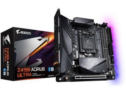 Placa Mãe Gigabyte Z490I Aorus Ultra 1.1 - Intel LGA 1200 DDR4 Mini-ITX