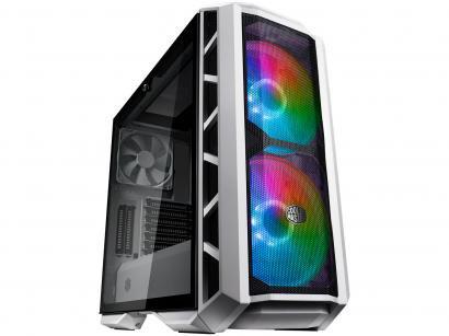 Gabinete Gamer Cooler Master MasterCase H500P - RGB Mid Tower ATX 3 FANs Branco