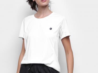 Camiseta Fitness e Musculação Olympikus Glassy - Feminina Branca
