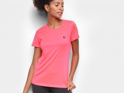 Camiseta Fitness e Musculação Olympikus Glassy - Feminina Rosa Claro
