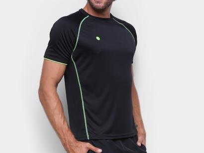 Camiseta Fitness e Musculação Olympikus - Colors Masculina Preta