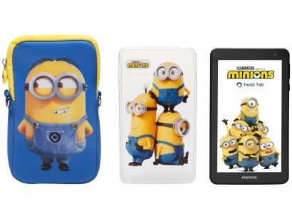 "Tablet Infantil Positivo T770KM Minions com Capa - 7"" Wi-Fi 32GB Android Oreo Quad-Core"
