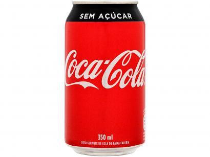 Refrigerante Lata Coca-Cola Sem Açúcar 350ml