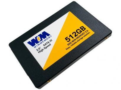 "SSD 512GB WIN MEMORY SATA 2,5"" Leitura 560MB/s - Gravação 540MB/s SWR512G"