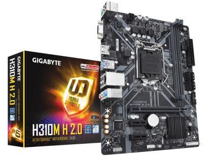 Placa Mãe Gigabyte H310M H 2.0 Intel - LGA 1151 DDR4 Micro ATX