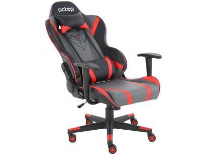 Cadeira Gamer PCTop Reclinável Preta e Vermelha - Spider X-2577