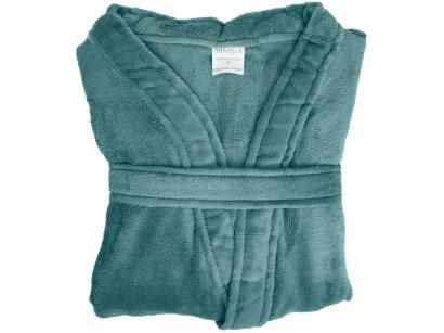 Roupão Atlântica Kimono de Microfibra Cipreste - Verde