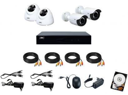 Kit DVR VTV Digital 8 Canais 4 Câmeras Full HD - 1080p 500GB CFTV VTV-02