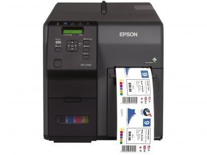 Impressora de Etiquetas Jato de Tinta Epson - ColorWorks TM-C7500G