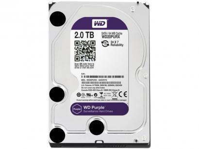 HD 2TB Western Digital Purple SATA III 7200RPM - WD20PURX