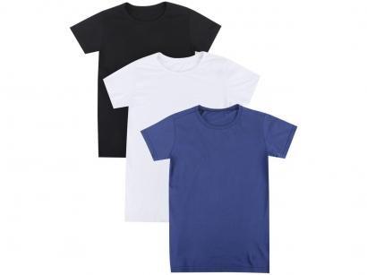 Kit 3 Camisetas Volare Básica Feminina