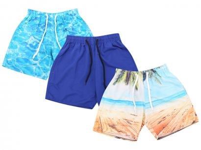 Kit 3 Shorts Wall Básico Masculino