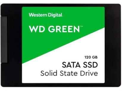 "SSD 120GB Western Digital SATA 3.0 2,5"" - Leitura 540MB/s e Gravação 300MB/s Green"