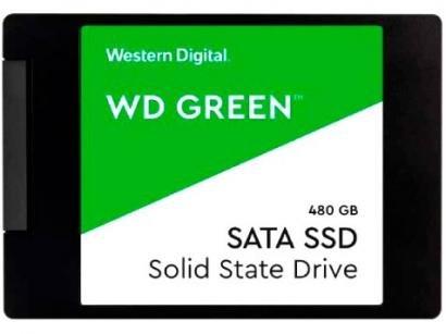 "SSD 480GB Western Digital SATA 3.0 2,5"" - Leitura 545MB/s e Gravação 430MB/s Green"