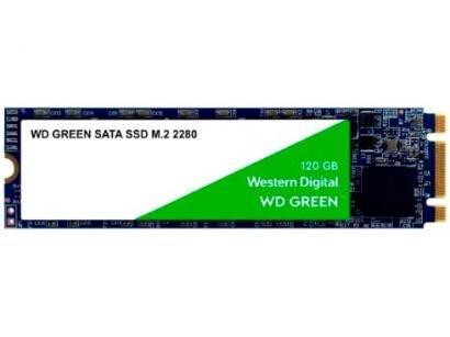 SSD 120GB Western Digital SATA 3.0 M.2 2280 - Leitura 540MB/s e Gravação 430MB/s Green